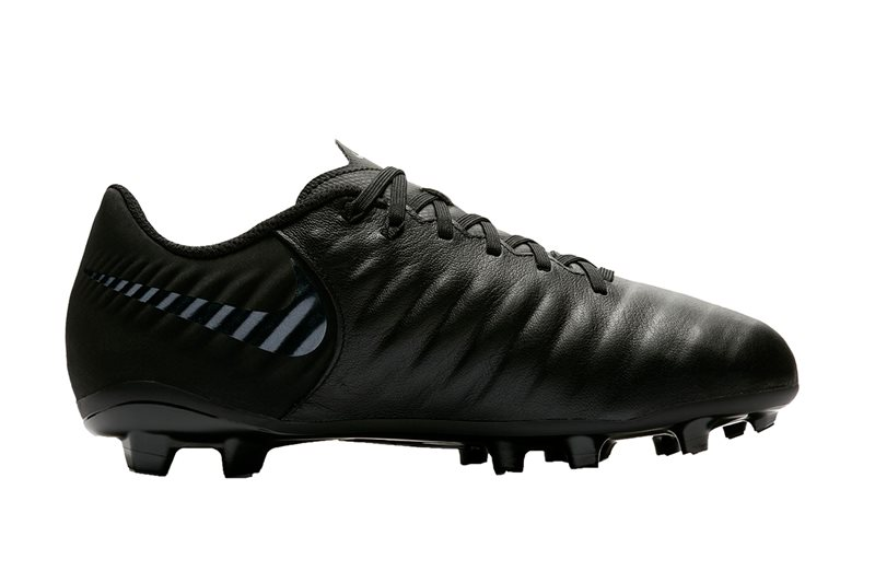 Tiempo Legend VII Academy Football Boots - Youth - Black/Black-LT Crimson -  UK Kids Size 10 | US 10 5 | EU 27 5