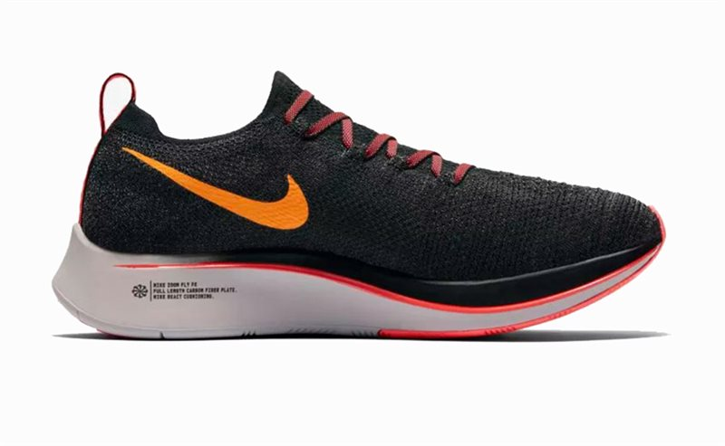 e047b4b3f Nike Zoom Fly Flyknit Running Shoes - Womens - Black Flash Crimson Orange -