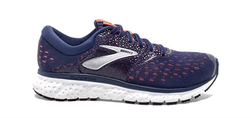 b1ea62355792e Brooks Glycerin 16 Running Shoes - Womens - Navy Coral White - Click to