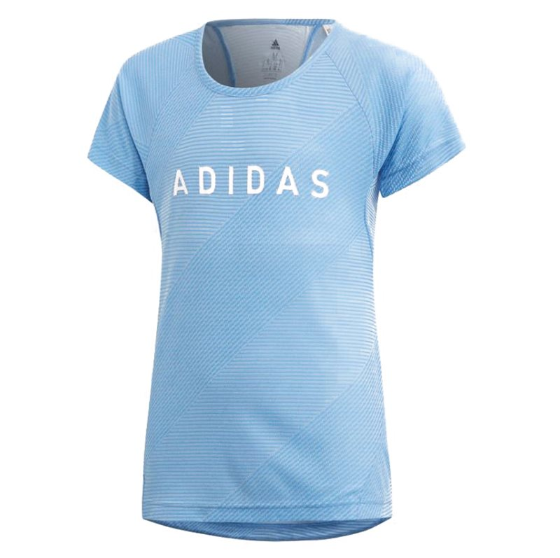 1bda0dbf7c64 adidas Training Tee- Girls - Lucky Blue White - Click to view a larger
