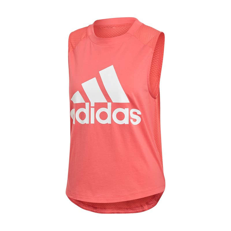 f38ab12d1 adidas Sport ID Logo Tank Top - Womens - Prism Pink White - Click to